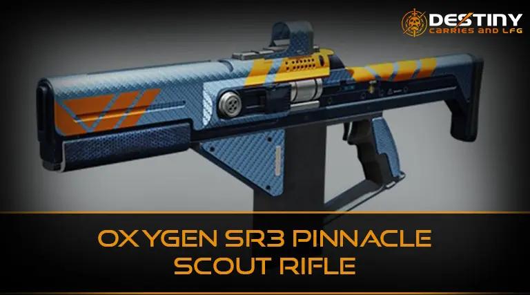 Oxygen SR3 Pinnacle Scout Rifle