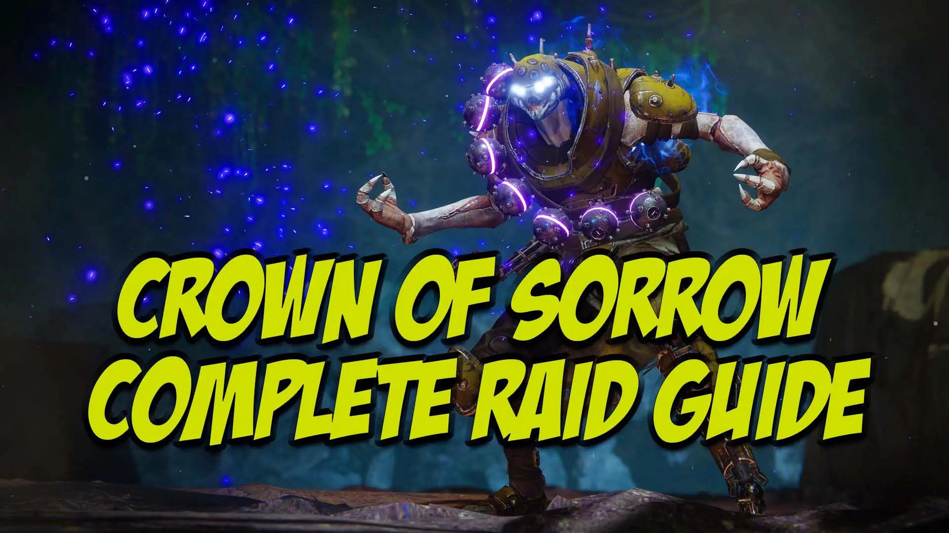 Crown of Sorrow Raid Guide