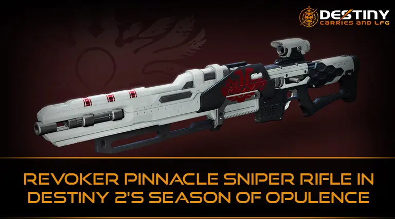 Revoker pinnacle sniper rifle in Destiny 2's Season of Opulence