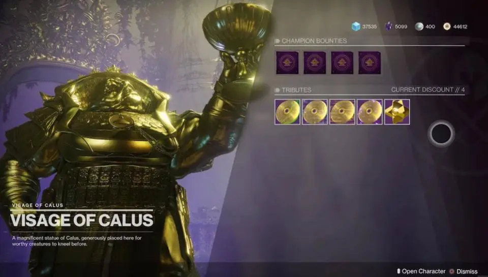 Calus Destiny 2 Bounties