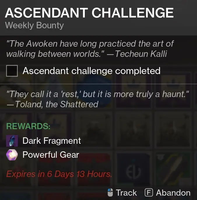 Ascendant Challenge Reward
