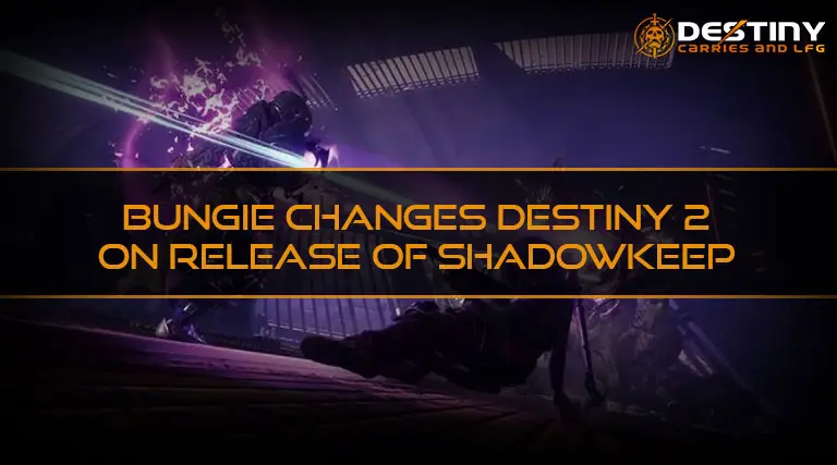 Bungie Changes Destiny 2 on Release of Shadowkeep